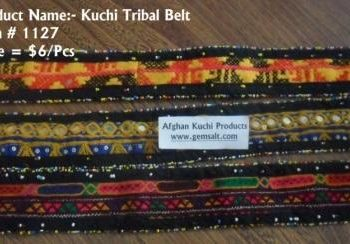 Afghan Tribal Handmade Fabric Belts