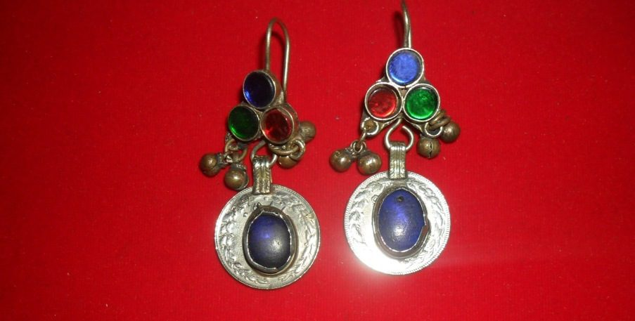 Coins with gems Ear Rings