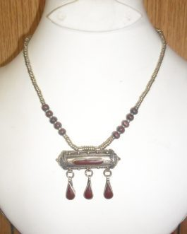 Kuchi Necklace with gemstone