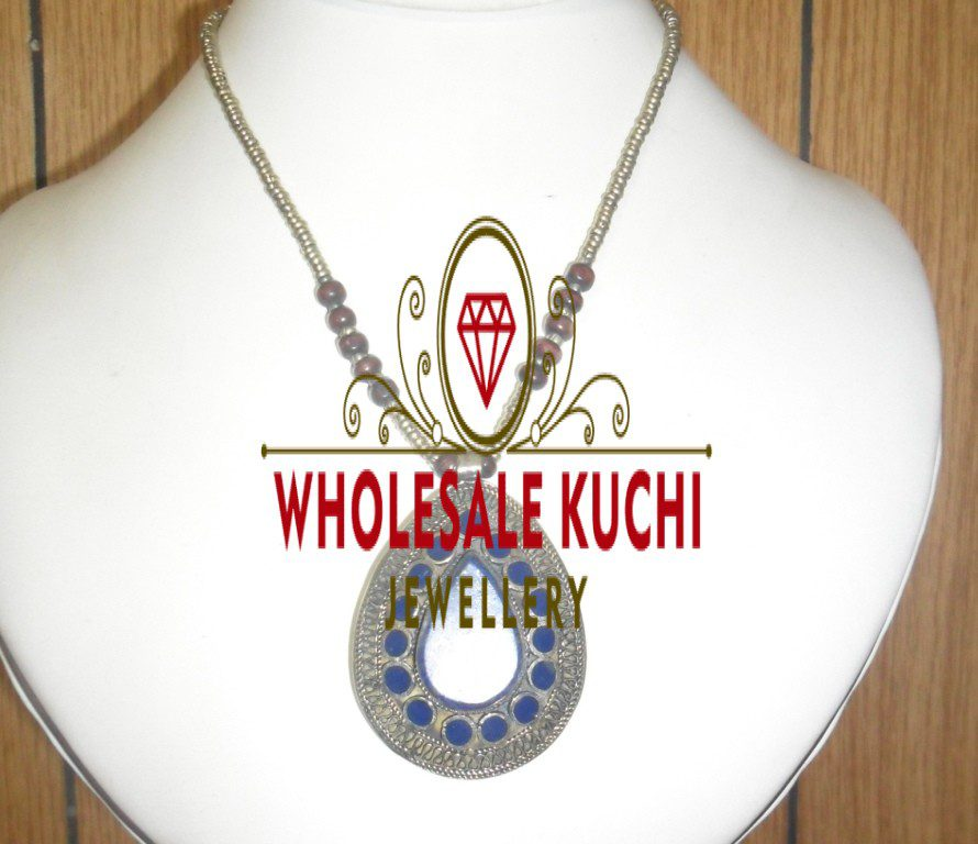 Kuchi Tribal Gemstone Necklace