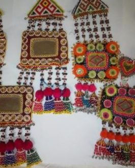Necklace Cum Hug of Mirror and Fabric