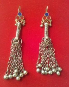 Kuchi Tribal Antique Long Bells Ear Rings