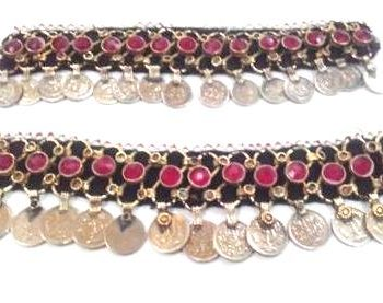 Metal Kuchi Anklet with Crystal