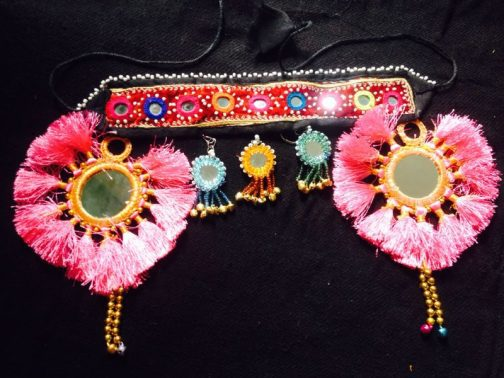 Turkmani Double Flower Head Piece