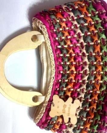 Colour Full Wooden Arils Hand Bag