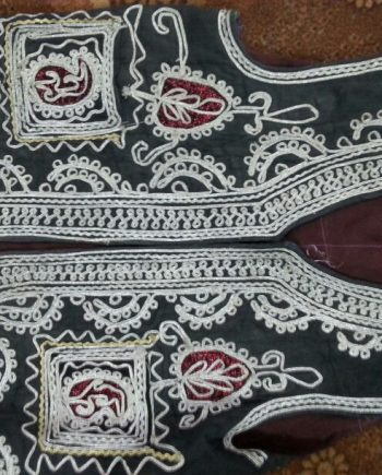 Tribal Silver Embroidery Was-coat with Gren Fabric