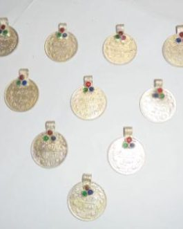 Old Coins with Small Crystal