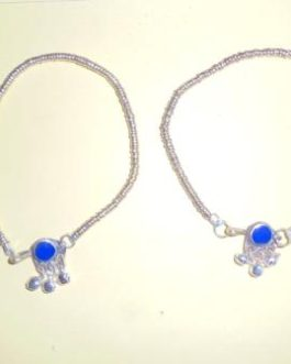 Multi Stone Anklets Pair