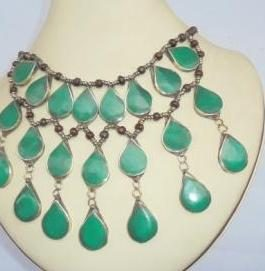 3 lines Malachite Necklace