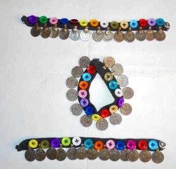Multi Button & Coins Anklet