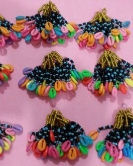 Shells Ready  for Stitch with Multi Color Cord