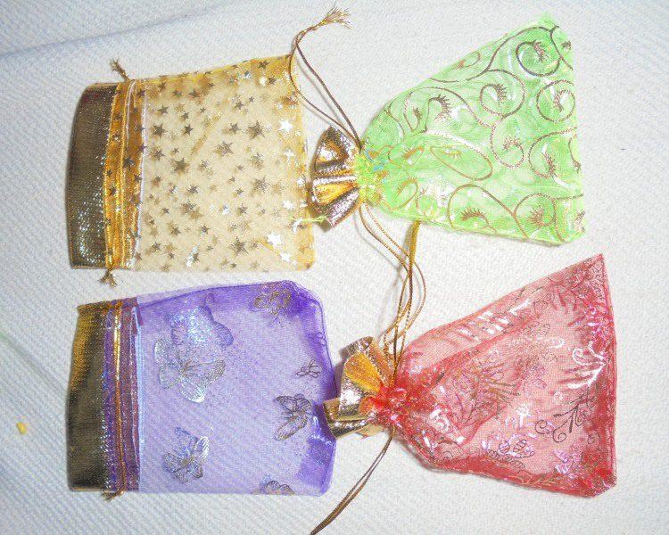 Net Pouch With Silk Cord