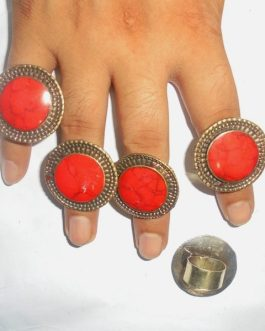 Coral Lady Ring
