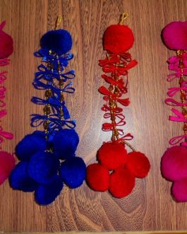 Fabric Flower Tassel