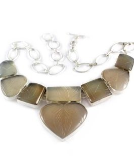 Chocolate Stylish Rels Stone Necklace-IN
