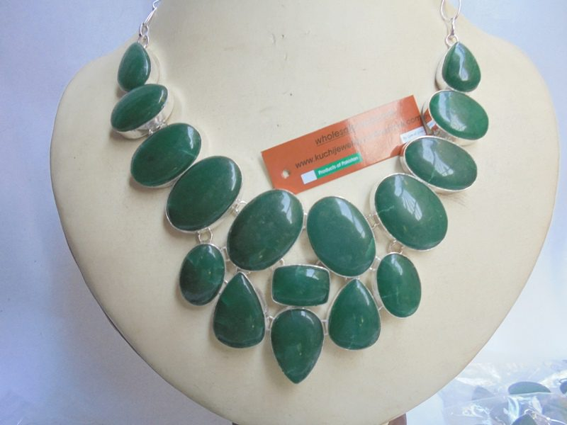Indian Malachite Stone Necklace-IN