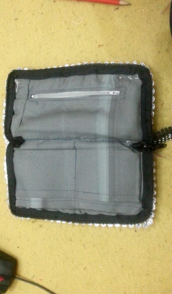 Fancy Tribal Pouch with Inner Zip & Card Pockets