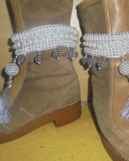 Fancy Boot Belt Pair With Tassel & Beads