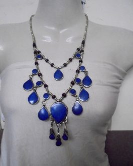 2 Lines Lapiz Vintage Necklace