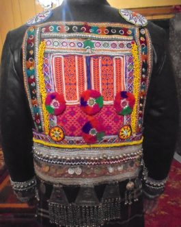 Pure Sheep Leather Traditional Jacket With Accessroies