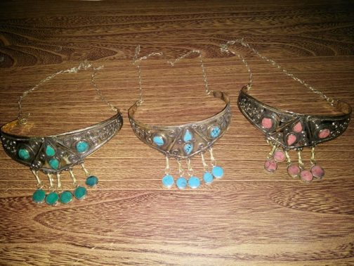 Tribal Stone Head Wear With Back Chain