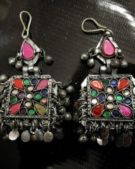 Square Tribal Ear Rings