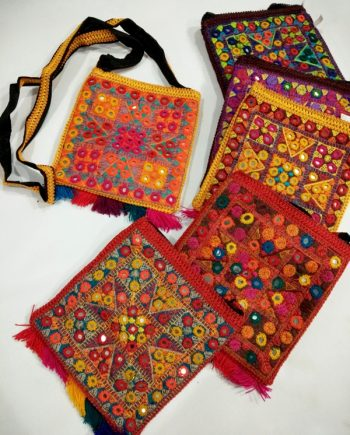 Afghan Embroidery Bag with Long Strip