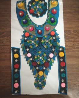 Embroidered Neckline With Cuff & Extra Medallion