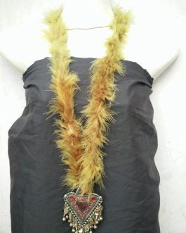Multi Color Fur Pendant Necklace