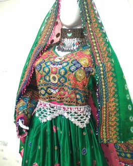 Green Afghan Tribal Dress