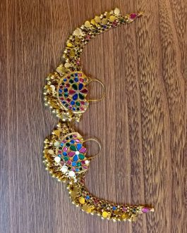 Afghan chand bali With Hair hook