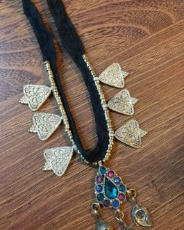 Turkman Leaf Chokar with Pendant