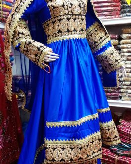 Stitched Afghan Bridal Dress