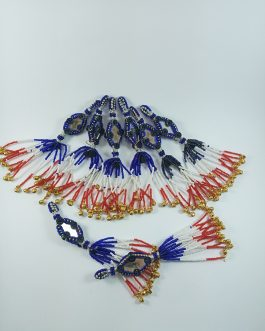 Mirror Ghongro & Beads Tassel (6pcs)
