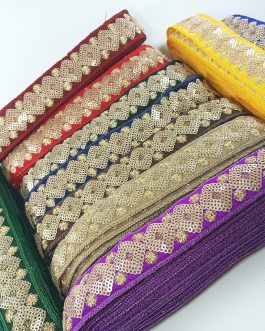 Sequins Embroidery Trim (6mtr)