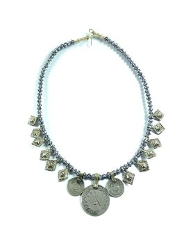 Turkish Beaded Coins Choker