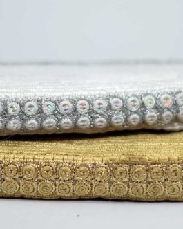 Metallic Embroidery Trim With Sequins