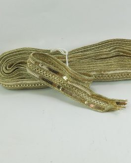Golden Embroidery Trim With Sequins (8mtr)