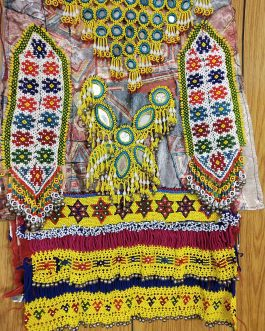 Long Tribal Beaded Poncho