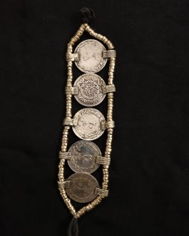 Unique Coins Beaded Bracelet
