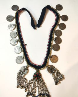Gypsy Long Afghani Pendant Necklace