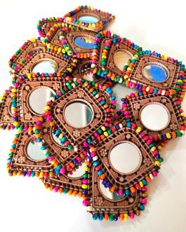 Beaded Mirror Traditional Medallions (1 Dozen)