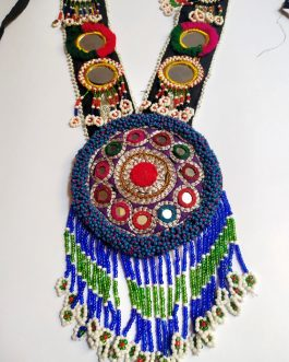 Beaded Medallion Mirror Necklace
