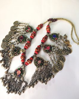 Unique Pendant & Colored Beads Necklace