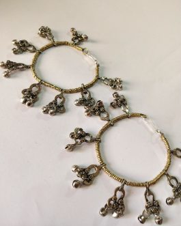 Beaded & Bells Anklet Pair