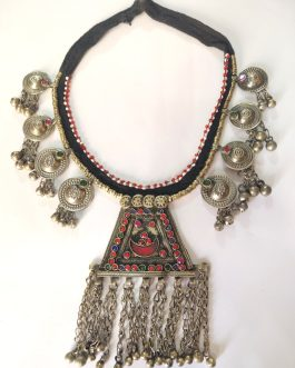 Kuchi Antique Bells Pendant Choker