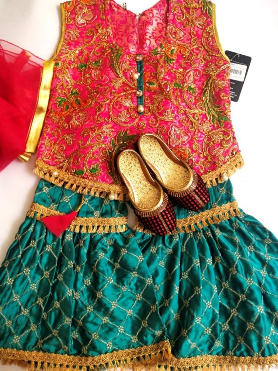Baby Fancy Embroidery Dress with Shoes