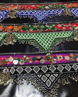 Patches & Hanging Bells Belt With Additional Accessories