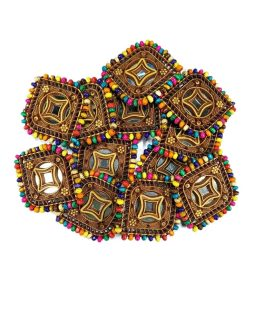 Beaded Traditional Medallions (1 Dozen)