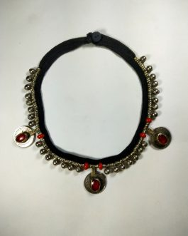 Small bells And Crystal Coins Choker